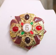 5777 Coco Number 5 Classic Colorful Unique Brooch