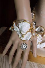 5797 Baroque Chubby White Cherub Clear Crytal Massive Bracelet
