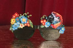 5817 Baroque Vacation Cancun Parrot Flower Embellished Sunglasses