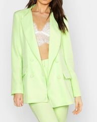 5638 2 Colors Elegant Double Breasted Summer Blazer