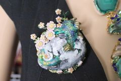 5948 ViHand Painted 3 D Effect Dragon Baby Massive Brooch