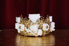 6038 Baroque White Chubby Cherubs Angels Roman Column Crown