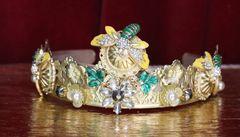 6072 Baroque Runway Enamel Bee Rhinestone Headband