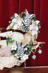 6104 Baroque Hand Painted 3 D Effect Zebra Crown