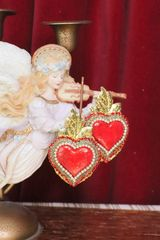 SOLD! 6123 Sacred Heart Lasrge Statement Earrings