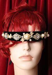 6141 Baroque Runway Black Clear Elegant Rhinestone Headband