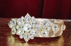 6159 Baroque Runway Clear Crystal Elegant Rhinestone Headband