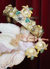 6224 Baroque Sicilian Enamel Bee Studs Earrings