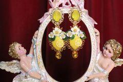 6225 Baroque Sicilian Lemon Fruit Studs Earrings