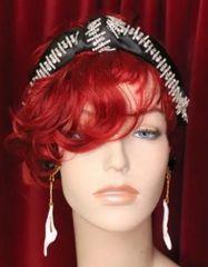 6242 Baroque Runway Elegant Rhinestone Bow Black Headband