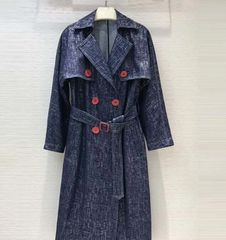 6244 High-End Runway 2019 Jean Imitation Light Trench Coat