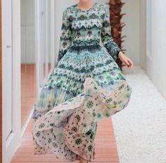 6248 High-End Runway 2019 Tie-Dye 100% Cotton Maxi Dress