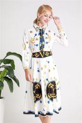 6254 Runway 2019 Designer Inspired Letter Eye Print Shirt+ Skirt Twinset