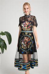 6257 Runway 2019 Designer Inspired Baroque Cherub Angel Sheer Lace Dress