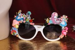 6262 Alice In Wonderland Fancy Embellished Sunglasses