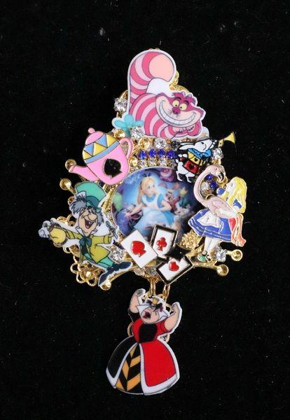 SOLD! 6264 Alice In Wonderland Enamel Details Brooch