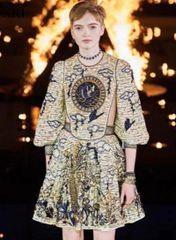 6288 Runway 2019 Designer Baroque Tile Print Mini Dress