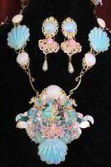 6351 Birth Of Venus Sea Horse Octopus Baroque Necklace SET