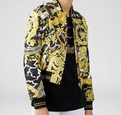 6373 High-end Runway 2019 Baroque Print Bomber