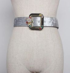 6379 2 Colors Runway 2019 Ice- Velvet Waist Belt Size S, L, M