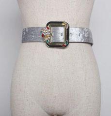 6379 2 Colors Runway 2019 Ice- Velvet Waist Belt Size S, L, M