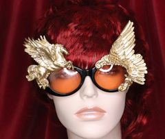 6389 Baroque Gold Pegasus Winged Embellished Sunglasses