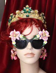 6390 Baroque Hawaii Plumeria Orchid Embellished Sunglasses