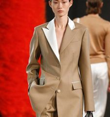 6392 High-end Runway 2019 Camel Color Tailored Blazer