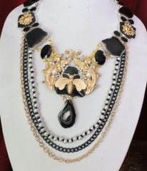 SOLD! 6408 Genuine Solar Quartz Agate Baroque Bee Dragon Pearl Necklace