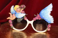6411 Baroque Bright Summery Cherub Angel Winged Embellished Sunglasses