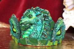 SOLD! 6449 Baroque Hand Painted Dragon's Eyes Unusual Medieval Crown