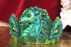 6449 Baroque Hand Painted Dragon's Eyes Unusual Medieval Crown