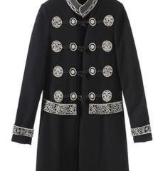6459 Runway 2019 Baroque Embroidery Double Breasted Light Trench Coat