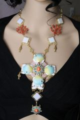 6483 Nautical Marine Shell Turtle Coral Reef Massive Cross+ Earrings