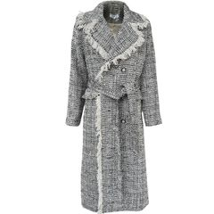 6517 Runway Fall 2019 Madam Coco Tweed Double Breasted Coat