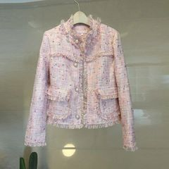 6518 Runway Madam Coco Tweed Pale Pink Blazer
