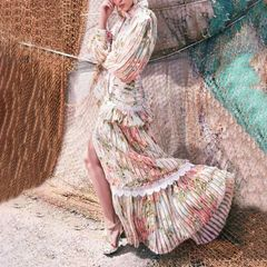 6556 Runway 2019 3 Colors Folk Boho Dress