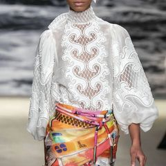 6563 Runway 2019 3 Colors Cut Out Embroidery Victorian Top Blouse