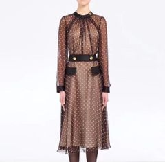 6584 Runway 2019 Polka Dot Chocolate Chic Midi Dress