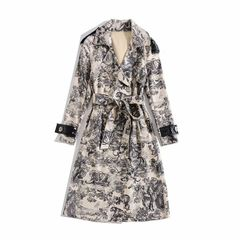 6609 Runway 2019 Forest Print Trench Coat
