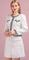 6618 Runway Classy White 2019 Mini Skirt + Blazer Twinset
