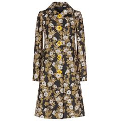 6621 High-End Jacquard Runway 2019 Flower Print Baroque Trench Coat