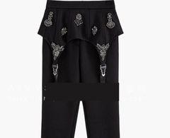 6646 Trendy Designer Embellished Peplum Pants