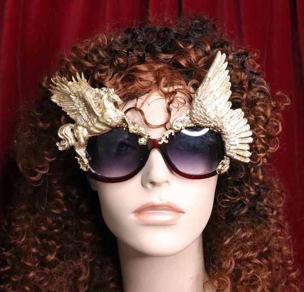 6681 Baroque Gold Pegasus Winged Embellished Sunglasses