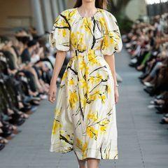 6754 Runway 2020 3 Colors Floral Print Dress