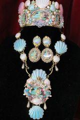 SOLD! 6798 Birth Of Venus Sea Horse Fish Baroque Necklace SET