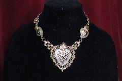 6833 Alta Moda Gold Tone Sacred Heart Pendant Necklace