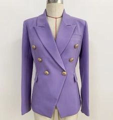 6844 Runway 2020 Lavender Double Breasted Blazer