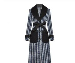6901 Runway 2020 Wool Blend Coco Elegant Belted Coat