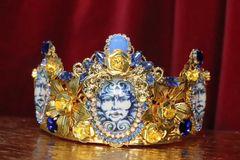 6915 Baroque Medusa Cameo Crown Headband